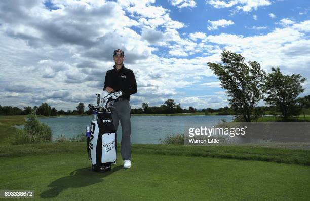 A portrait of Matthias Schwab of Austria ahead of the Lyoness Open at Diamond Country Club on June 7 2017 in Atzenbrugg Austria