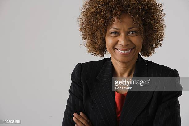 Portrait of mature businesswoman, studio shot