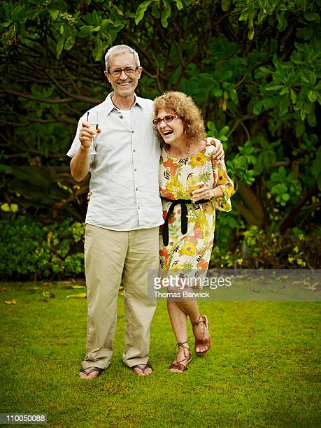 Portrait of mature couple at wedding