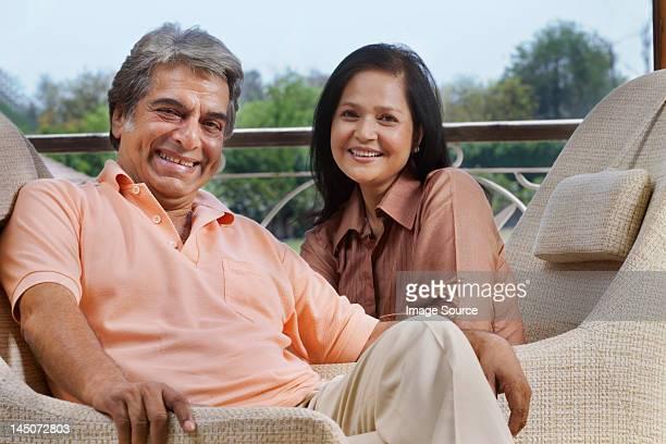 Portrait of mature couple smiling