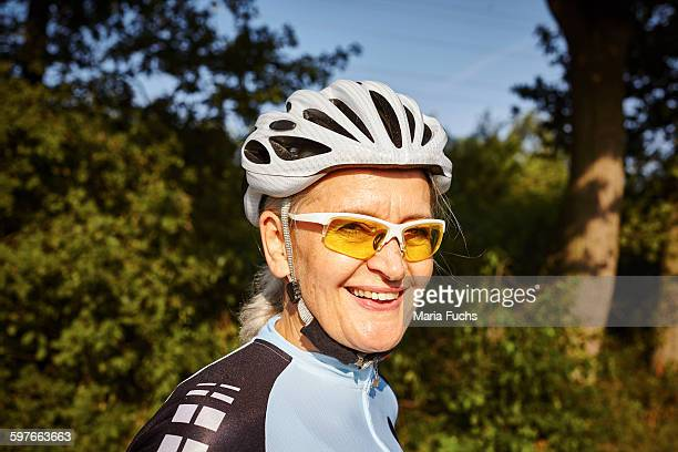 Portrait of mature cyclist