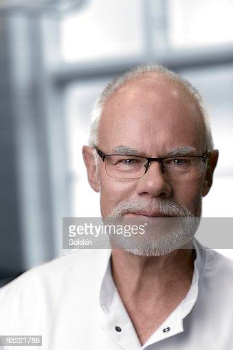 portrait of mature dotor : Stock Photo
