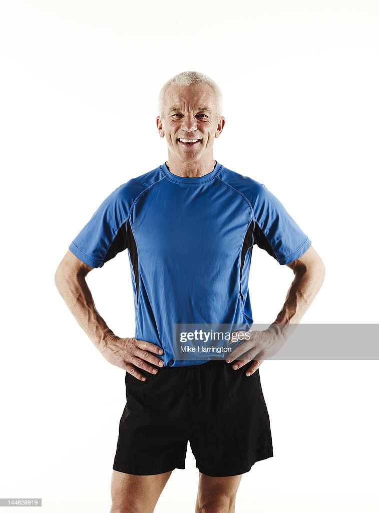 Portrait of Mature Male Runner Smiling