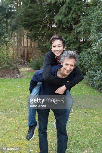 mature men piggyback video
