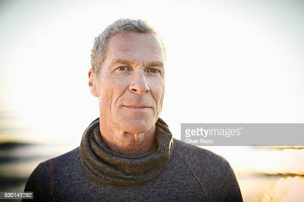 Portrait of mature man on the beach