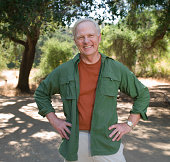 Portrait of mature man outdoors.