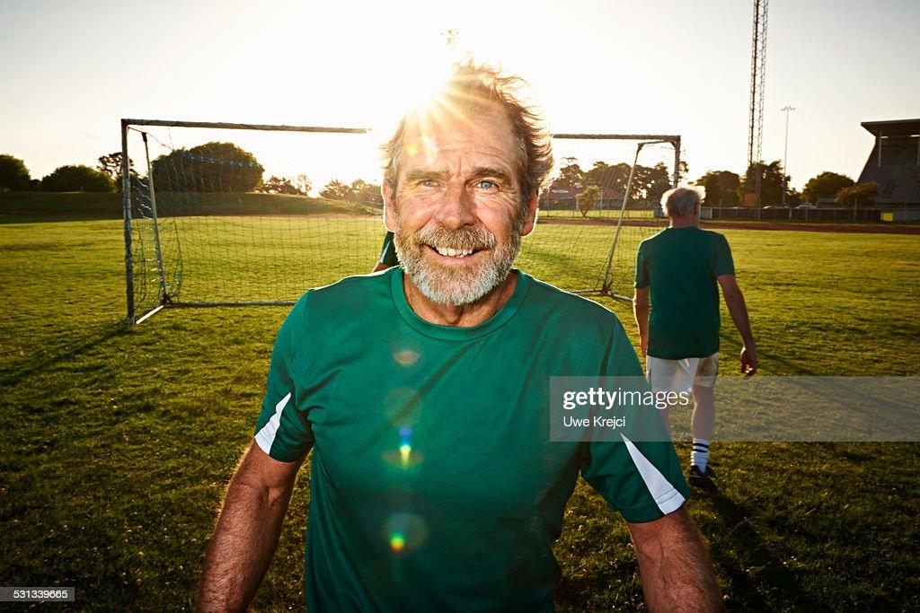 Portrait of mature soccer player