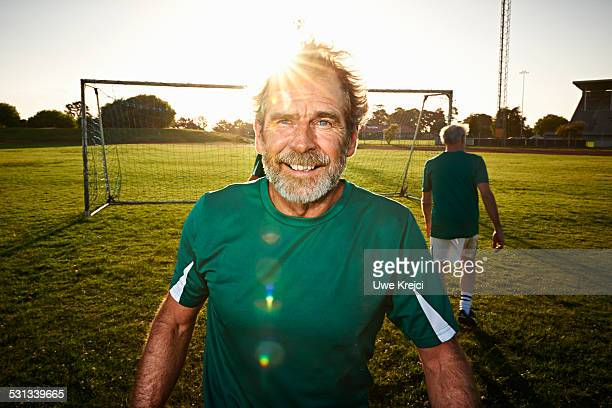 Portrait of mature soccer player
