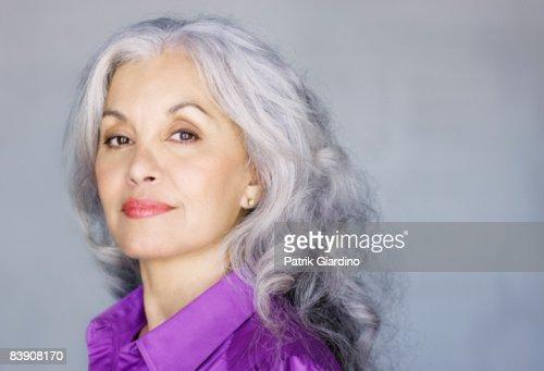 Portrait of mature woman : Stock Photo