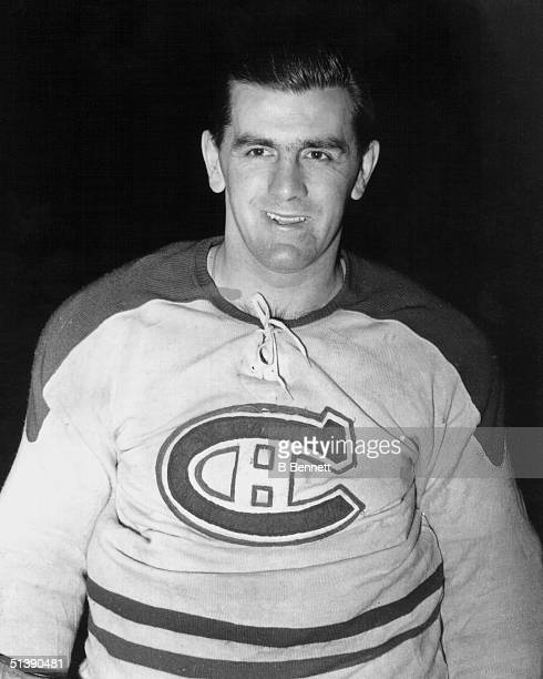 A portrait of Maurice Richard of the Montreal Canadiens circa 1950's