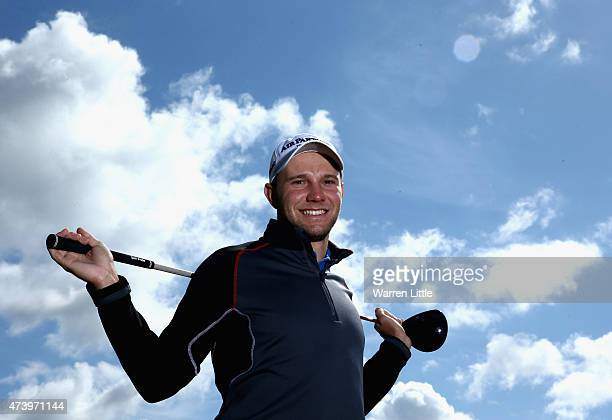 A portrait of Maximilian Kieffer of Germany during a practice round ahead of the BMW PGA Championship at Wentworth on May 19 2015 in Virginia Water...