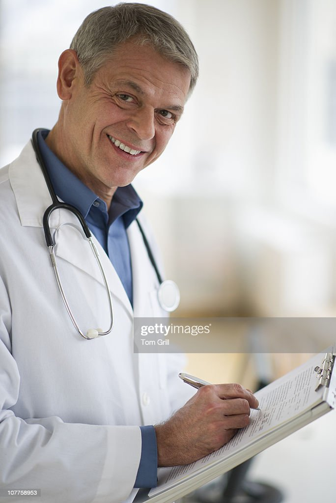 Portrait of medical doctor : Stock Photo