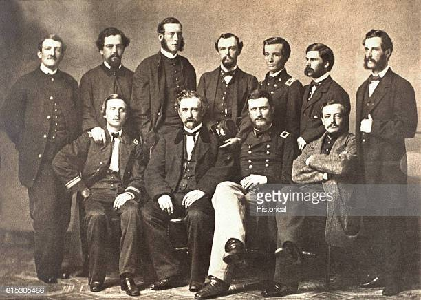 Portrait of members of the Department of the Gulf a Federal military governing body in New Orleans Louisiana in March 1863 Seated from left to right...