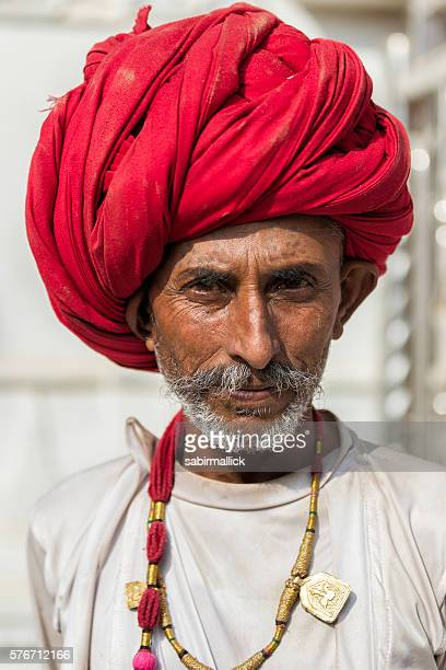 Portrait of men from Rajasthan, India.