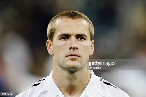 A portrait of Michael Owen of Real Madrid prior to the UEFA Champions League Group B match between Real Madrid and Dynamo Kiev at the Santiago...