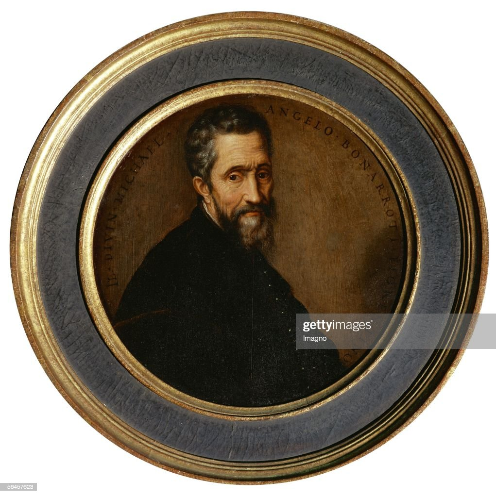 Portrait of <a gi-track='captionPersonalityLinkClicked' href=/galleries/search?phrase=Michelangelo+-+Artist&family=editorial&specificpeople=116061 ng-click='$event.stopPropagation()'>Michelangelo</a> Buonarotti. Inv. 210. (Photo by Imagno/Getty Images) [Portrait von <a gi-track='captionPersonalityLinkClicked' href=/galleries/search?phrase=Michelangelo+-+Artist&family=editorial&specificpeople=116061 ng-click='$event.stopPropagation()'>Michelangelo</a> Buonarotti. Inv. 210]
