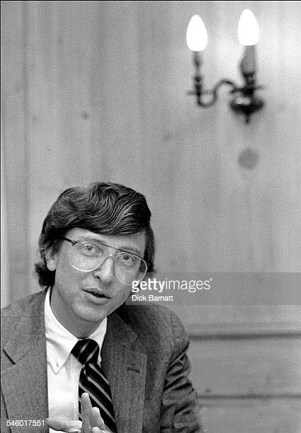 Portrait of Microsoft founder Bill Gates London circa 1989