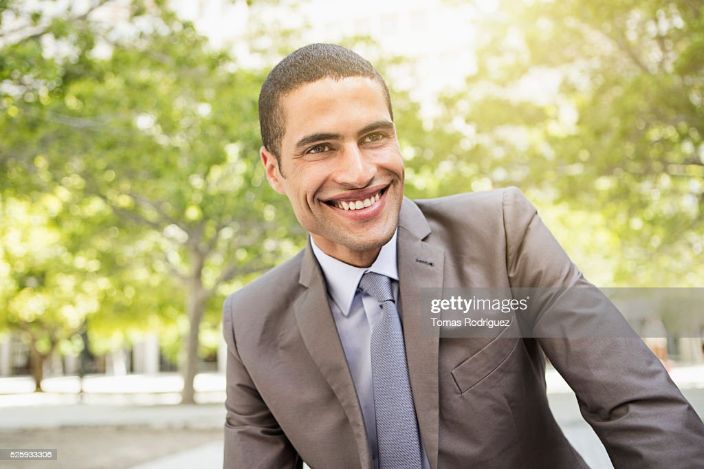 Portrait of mid adult man in suite : Stock Photo