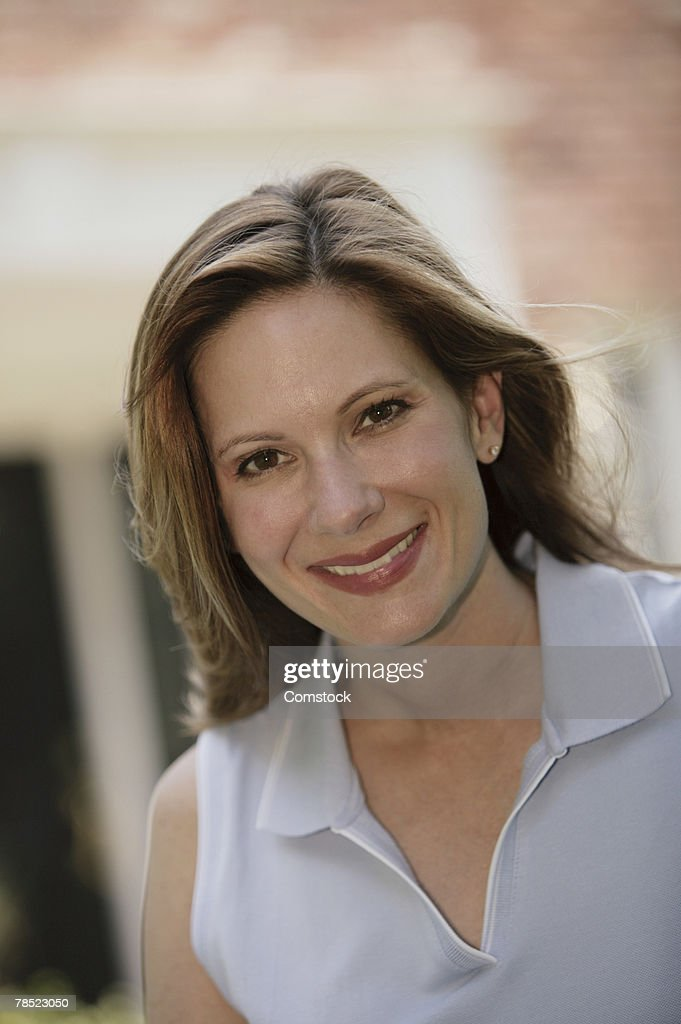 Portrait of mid-adult woman : Stock Photo