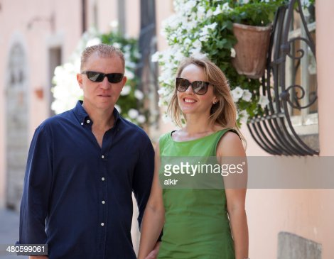 Portrait of middle age couple : Stock Photo