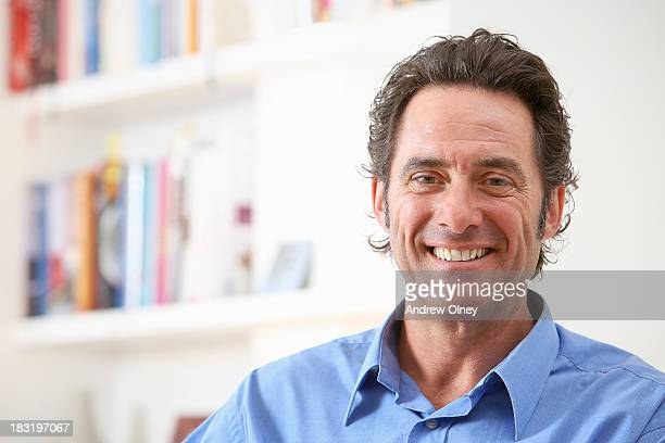 Portrait of middle aged man at home