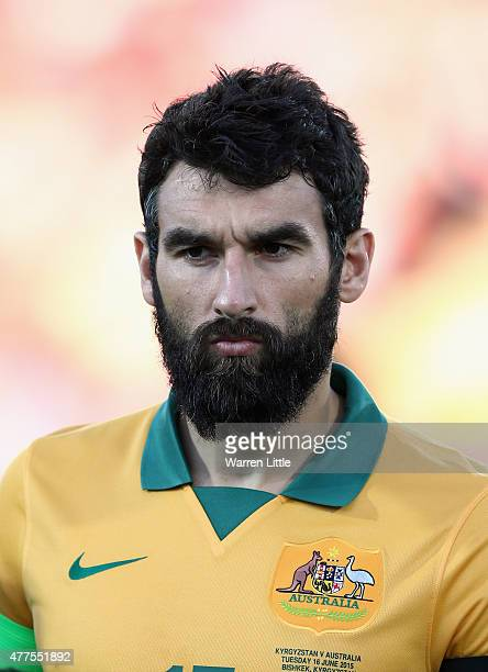 A portrait of Mile Jedinak of Australia ahead of the 2018 FIFA World Cup Qualifier match between Kyrgyzstan and the Australian Socceroos at Dolen...