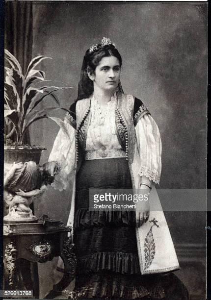 Portrait of Milena Vukotic Princess of Montenegro