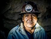 Portrait of miner, Cerro Rico, Potosi, Southern Altiplano, Bolivia
