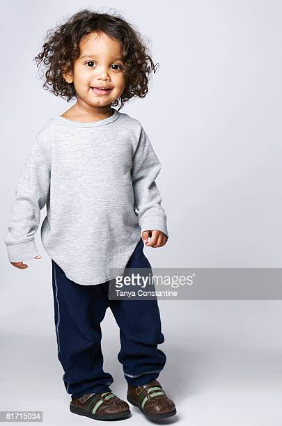 Portrait of Mixed Race boy