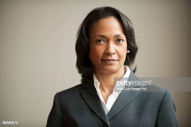 Portrait of mixed race businesswoman