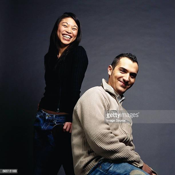 Portrait of mixed race couple