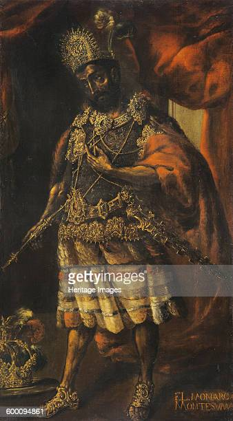 Portrait of Moctezuma II 17th century Private Collection Artist Anonymous