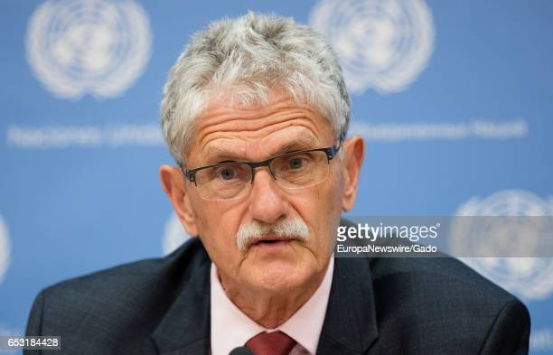 Portrait of Mogens Lykketoft President of the United Nations' 70th Session of the General Assembly on the debate of the nominees for Secretary...