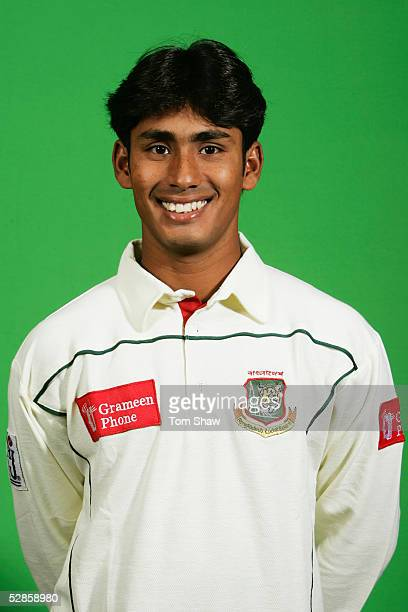 Portrait of Mohammad Ashraful of Bangladesh taken during a photocall at the Crowne Plaza Hotel on May 9 2005 in Cambridge England