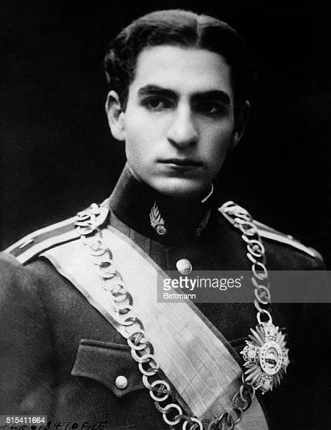 9/1941 Portrait of Mohammed Reza Pahlavi Crown Prince of Iran who according to a Rome newspaper has taken over command of the Iranian Army