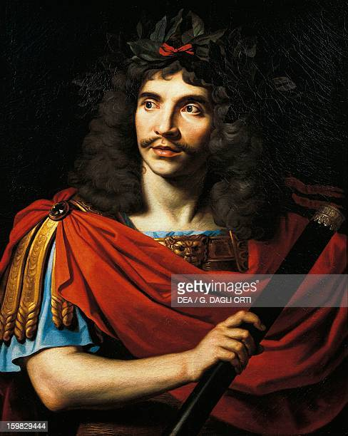 Portrait of Moliere pseudonym of JeanBaptiste Poquelin French playwright and actor Painting by an unknown 18th century French artist Paris Hôtel...