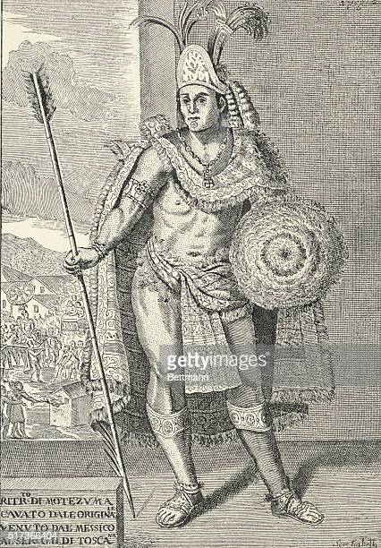 Portrait of Montezuma Aztec emperor of Mexico known for his confrontation with Hernán Cortés the Spanish conquistador