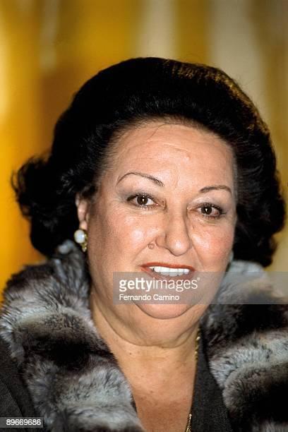 Portrait of Montserrat Caballe soprano