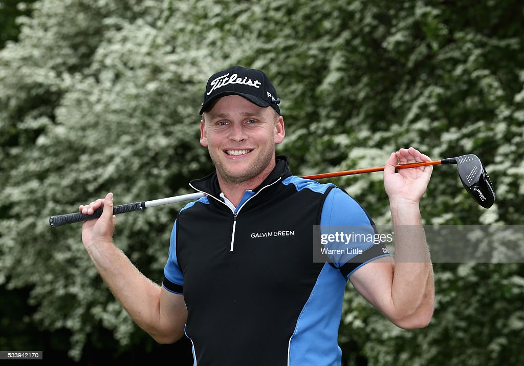 A portrait of Morten Orum Madsen of Denmark ahead of the BMW PGA Championship at Wentworth Golf Club on May 24, 2016 in Virginia Water, England.