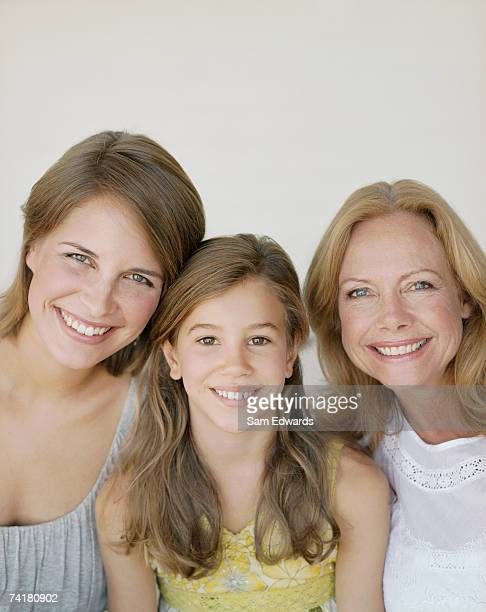 Portrait of mother and daughter with granddaughter