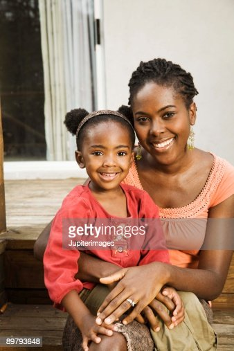 Portrait of mother with daughter : Stock Photo