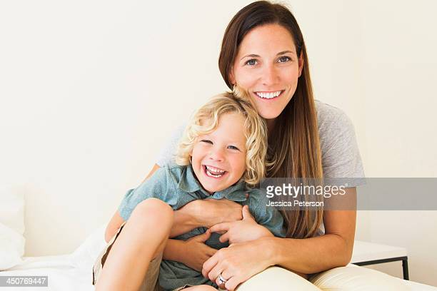 Portrait of mother with son (6-7)