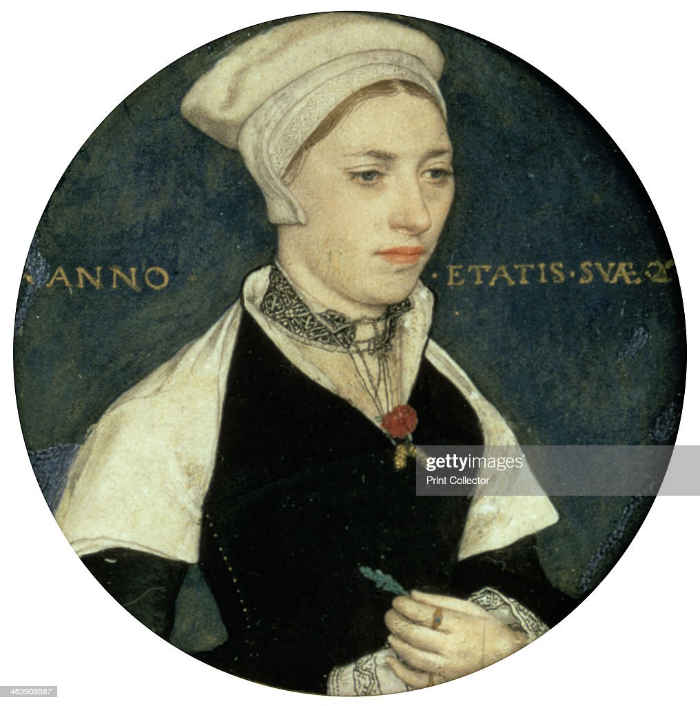 'Portrait of Mrs Pemberton' c1535 From the Victoria and Albert Museum London