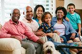 Portrait Of Multi Generation Family