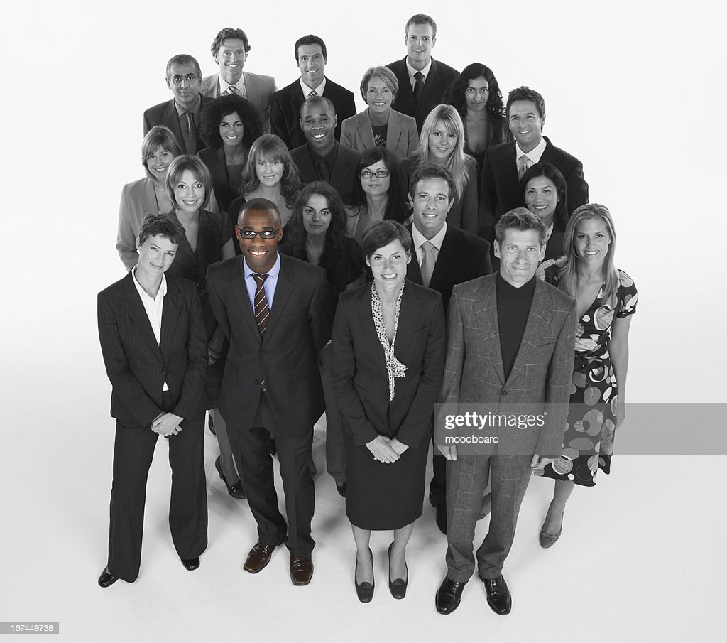 Portrait of multi-ethnic business team standing together : Stock Photo