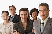 Portrait of multi-ethnic businesspeople