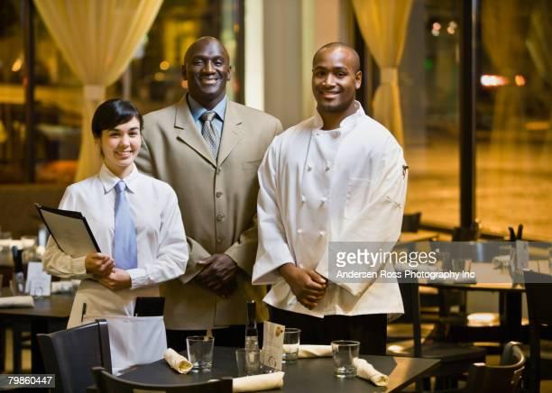 Portrait of multi-ethnic restaurant staff