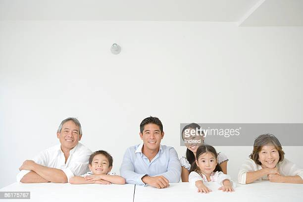 Portrait of multigenerational family, smiling