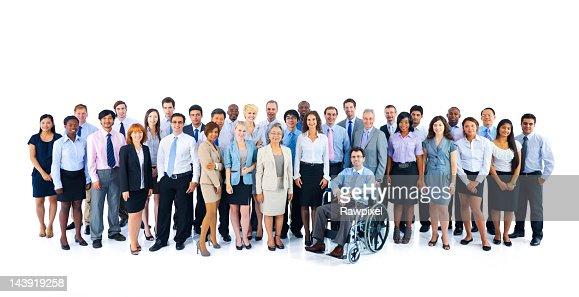 Retrato de multinacionales de las personas de negocios