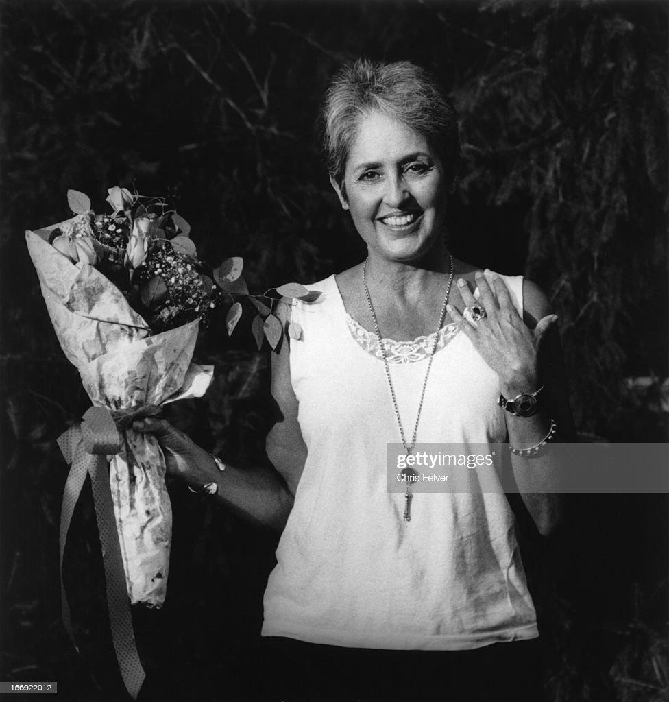Portrait of musician and activist Joan Baez, Akron, Ohio, 1995.
